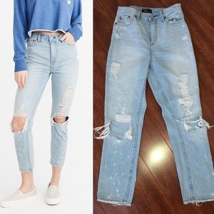 Abercrombie and Fitch High Rise Girlfriend Jeans